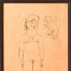 Arte: GEORGE GROSZ. DADA. 1920. LITOGRAFÍA FIRMADA A MANO. PROCEDENCIA: GALERIE LEVY.. Lote 176870222