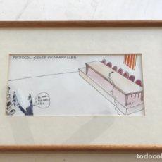 """Arte: DIBUJO A TINTA DE FRANCESC VILA """" CESC"""" PROTOCOL SENSE PICABARALLES 1988. VER FOTOS.. Lote 176895130"""