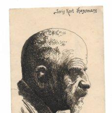 Arte: JORIS KARL HUYSMANS DIBUJO A PLUMILLA. Lote 176947890