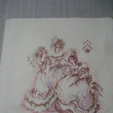 Arte: DIBUJO ORIGINAL DE POLONIA. Lote 176996227