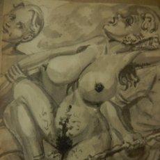 Arte: ANTIGUO DIBUJO ERÓTICO ESTADOUNIONENSE. FINAL DE LA II GUERRA MUNDIAL.. Lote 177055668