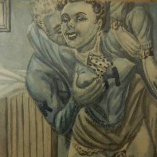 Arte: ANTIGUO DIBUJO ERÓTICO ESTADOUNIONENSE. FINAL DE LA II GUERRA MUNDIAL.. Lote 177055965