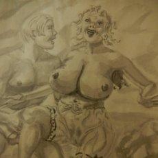 Arte: ANTIGUO DIBUJO ERÓTICO ESTADOUNIONENSE. FINAL DE LA II GUERRA MUNDIAL.. Lote 177056254