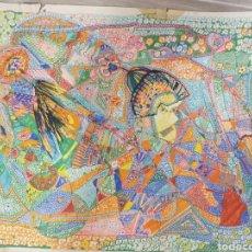 Arte: DIBUJO A ROTULADOR, ROCK GALÁCTICO, AÑOS 60, MEDIDAS 60X46CM. Lote 177071965