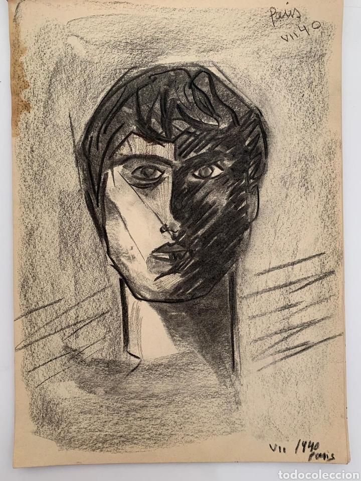 RETRATO CUBISTA PARÍS 1945 (Arte - Dibujos - Contemporáneos siglo XX)