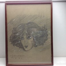 Arte: ORIGINAL DIBUJO A LAPIZ COLOREADO DE C.J. FRIEDMANN AÑO 1924. Lote 177299150