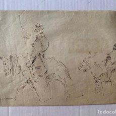 Arte: RICARDO MARÍN LLOVET - DON QUIJOTE Y SANCHO PANZA. Lote 177308199