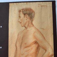Arte: J. CAMINS, JOSEP CAMINS REBULL - DESNUDO MASCULINO. Lote 177310735