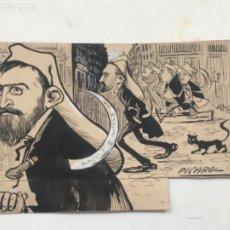 Arte: DIBUJO A TINTA DE PICAROL - ORIGINAL - JOSEP COSTA FERRER . Lote 177581343