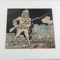 Arte: DIBUJO A TINTA DE PICAROL - ORIGINAL - JOSEP COSTA FERRER. CON CERTIFICADO. . Lote 177581818