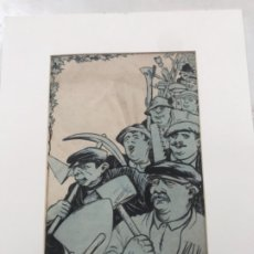 Arte: DIBUJO A TINTA DE PICAROL - ORIGINAL - JOSEP COSTA FERRER. CON CERTIFICADO. . Lote 177582252