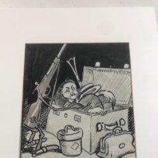 Arte: DIBUJO A TINTA DE PICAROL - ORIGINAL - JOSEP COSTA FERRER. CON CERTIFICADO. . Lote 177582580
