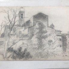 Arte: DIBUJO A LÁPIZ FIMADO J. MIR. 1920'S. . Lote 177583383