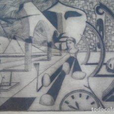 Arte: DIBUJO LAPIZ AL CARBON FIRMADO RICARDO Y NUMEROTADO. Lote 177620927