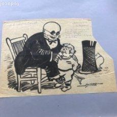 Arte: DIBUJO A TINTA DE PICAROL - ORIGINAL - JOSEP COSTA FERRER.PUBLICADO ESQUELLA TORRATXA A 2 COLUMNAS. . Lote 177628324