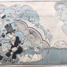 Arte: DIBUJO A TINTA DE PICAROL - ORIGINAL - JOSEP COSTA FERRER.. Lote 177628623