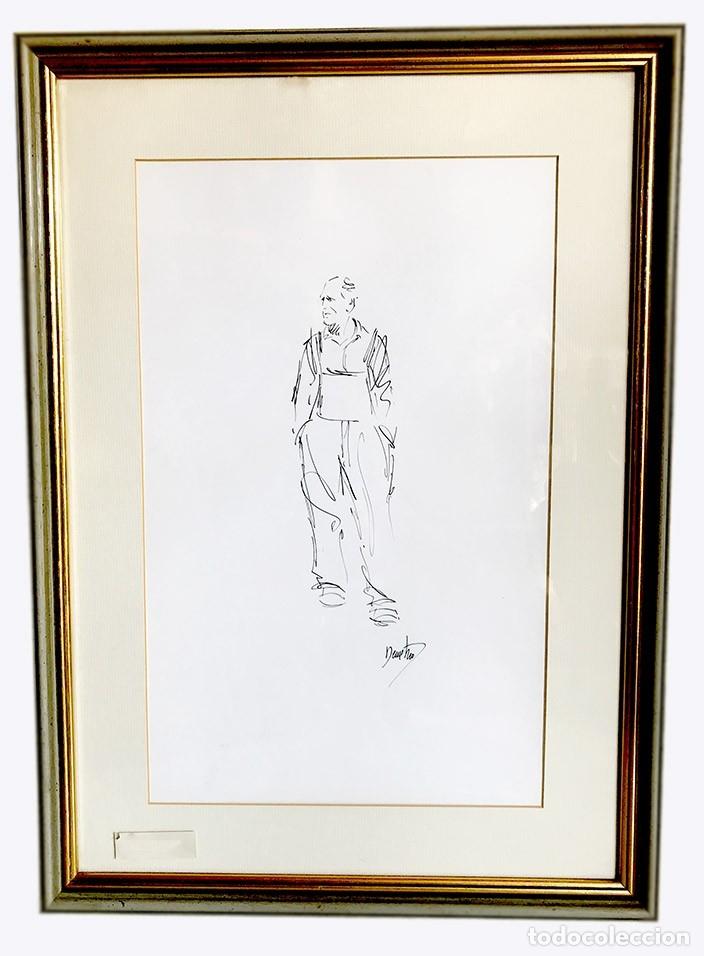 DIBUJO ENMARCADO FIRMA DEMETRIO (Arte - Dibujos - Contemporáneos siglo XX)