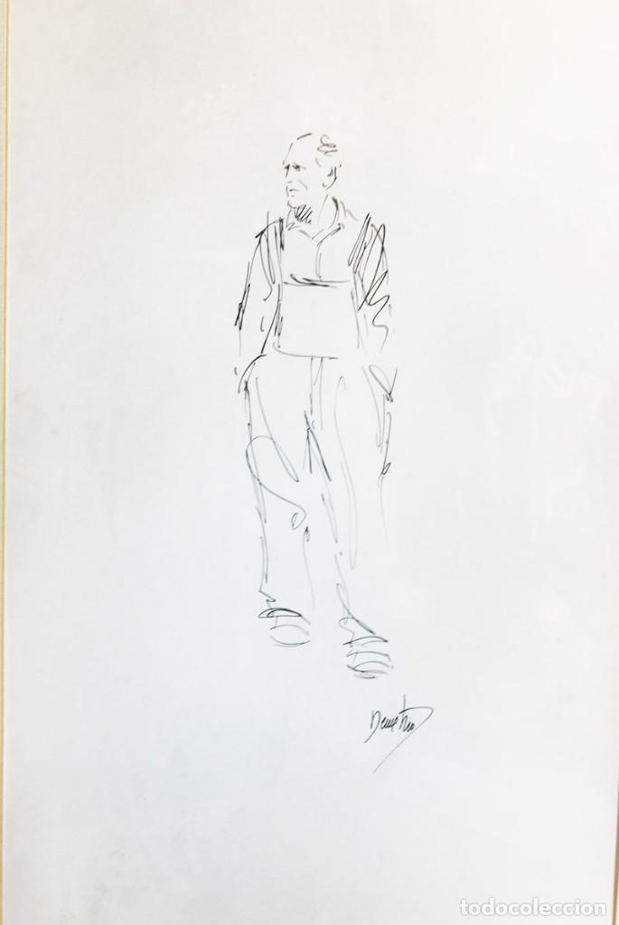 Arte: Dibujo enmarcado firma Demetrio - Foto 2 - 177686924