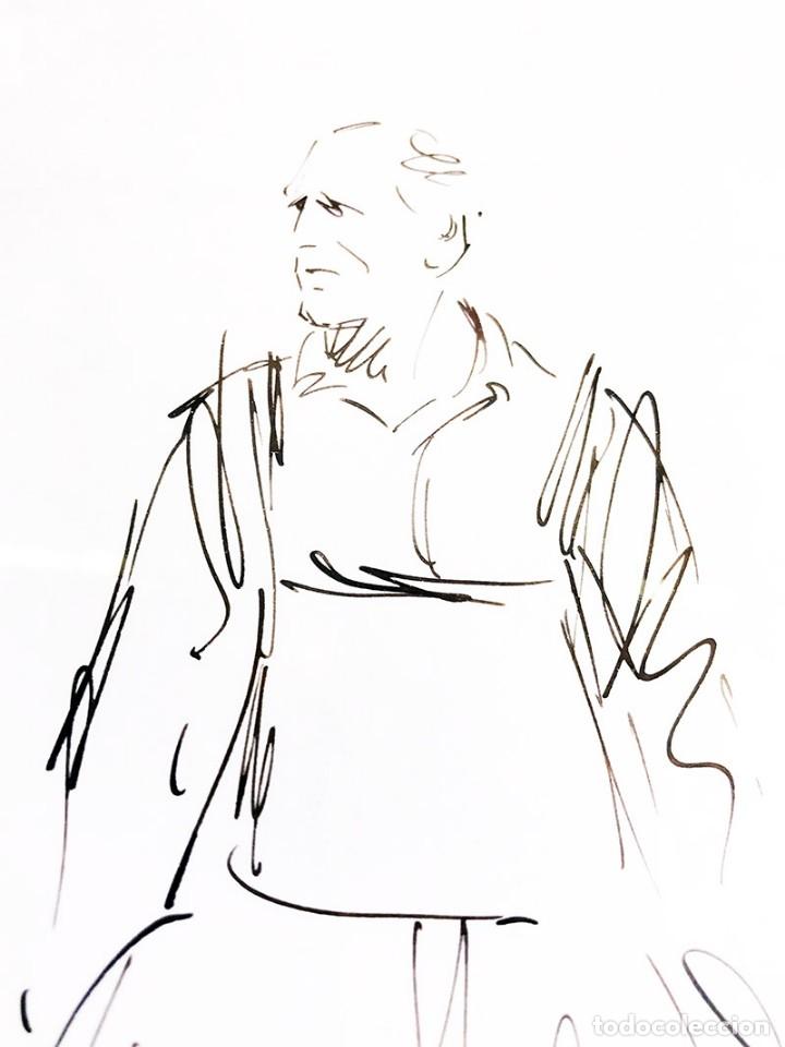 Arte: Dibujo enmarcado firma Demetrio - Foto 4 - 177686924
