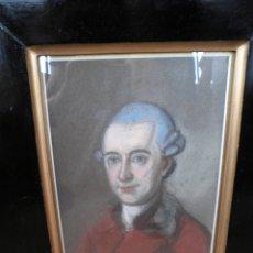 Arte: PAREJA DIBUJO RETRATO S. XVIII PASTEL DAMA Y CABALLERO. Lote 177738420
