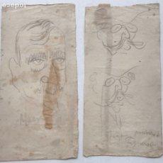 """Arte: DIBUJOS A LÁPIZ DE PICAROL """" JOSEP COSTA FERRER"""" FRANCESC MACIA Y FIGA FIGUEROLA. CON CERTIFICADO.. Lote 177766200"""
