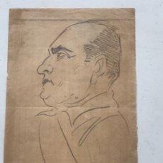 "Arte: DIBUJO A LÁPIZ DE PICAROL "" JOSEP COSTA FERRER"" MUSOLINI . CON CERTIFICADO.. Lote 177766592"