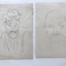 "Arte: DIBUJOS A LÁPIZ DE PICAROL "" JOSEP COSTA FERRER"" VILLALONGA ESCANTES, GRIMOSA Y POU FE. CERTIFICADO.. Lote 177766862"
