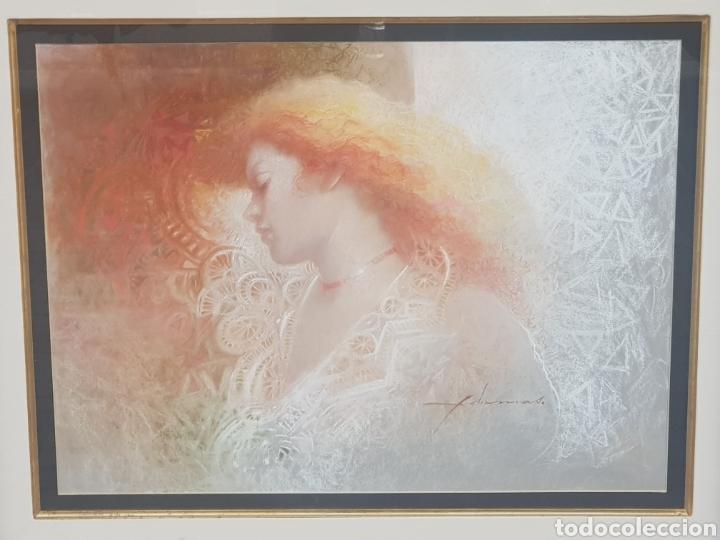 Arte: DIBUJO ORIGINAL DE FELIX MAS . EL PAPEL MIDE 49 X 64 CM. ENMARCADO MIDE 82 X 98 CM. - Foto 2 - 177769990
