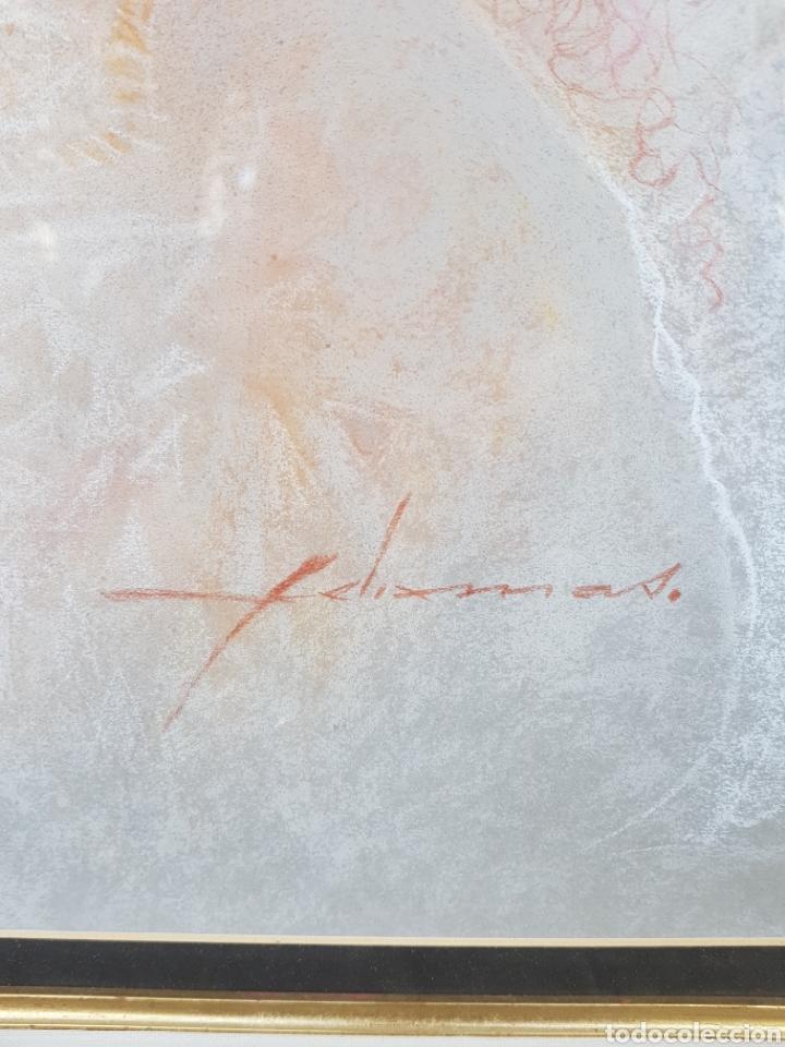 Arte: DIBUJO ORIGINAL DE FELIX MAS . EL PAPEL MIDE 49 X 64 CM. ENMARCADO MIDE 82 X 98 CM. - Foto 3 - 177769990