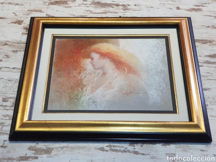 Arte: DIBUJO ORIGINAL DE FELIX MAS . EL PAPEL MIDE 49 X 64 CM. ENMARCADO MIDE 82 X 98 CM. - Foto 4 - 177769990