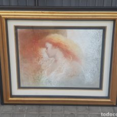 Arte: DIBUJO ORIGINAL DE FELIX MAS . EL PAPEL MIDE 49 X 64 CM. ENMARCADO MIDE 82 X 98 CM.. Lote 177769990