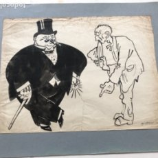 "Arte: GRAN DIBUJO A TINTA DE PICAROL "" JOSEP COSTA FERRER "". CON CERTIFICADO. . Lote 177770888"