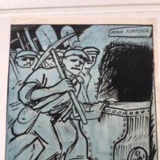 """Arte: DIBUJO A TINTA Y ACUARELA DE PICAROL """" JOSEP COSTA FERRER """". CON CERTIFICADO.. Lote 177771608"""