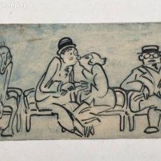 """Arte: DIBUJO A TINTA Y ACUARELA DE PICAROL """" JOSEP COSTA FERRER """". CON CERTIFICADO.. Lote 177771973"""