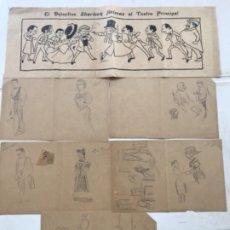 "Arte: DIBUJOS A LAPIZ DE PICAROL "" JOSEP COSTA FERRER "". CON CERTIFICADO.. Lote 177773000"