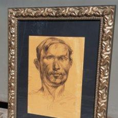 Arte: DIBUJO ORIGINAL DE FRANCISCO GIMENO ARASA , EL PAPEL MIDE 43 X 30 CM ENMARCADO MIDE 70 X 56,5 CM.. Lote 177794040