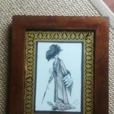 Arte: PLUMILLA ORIGINAL DE DAMA 1910. Lote 177936710