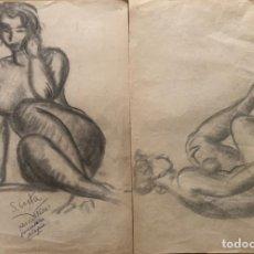 Arte: GORKA,DIBUJO DE ESTUDIO PARA ESCULTURAS.. Lote 178095355