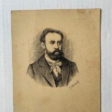 Arte: JOSEP BLANQUET TABERNER- RETRATO. Lote 178136190