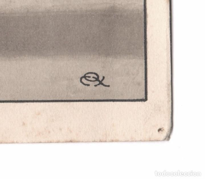Arte: EROTISMO - Portada de novela, dibujo en tinta sobre papel, Firmado. España, 1930s. 14x20cm. - Foto 2 - 178140652