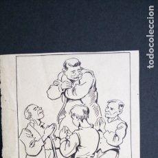 Arte: DIBUJO ORIGINAL APELES MESTRES A PLUMILLA FIRMADO. Lote 178359561