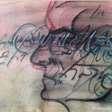 Arte: JAUME GENOVART (1953) TÉCNICA MIXTA SOBRE PAPEL. FIRMADA Y FECHADA. Lote 178443440