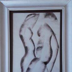 Arte: TÉCNICA MIXTA SOBRE PAPEL. FIRMADA ILEGIBLE. Lote 178571982