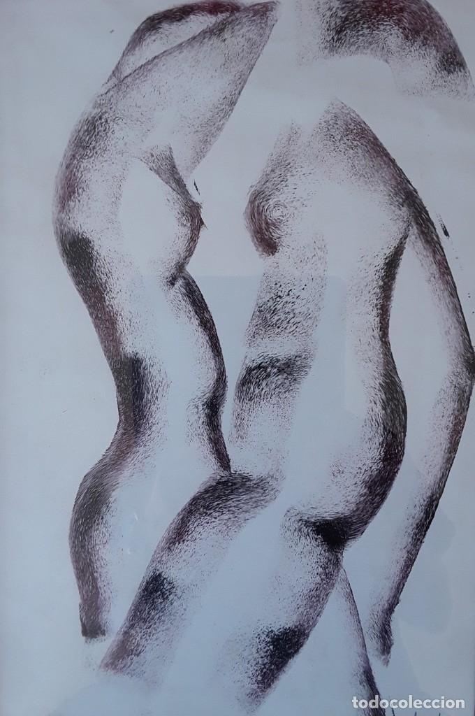 Arte: TÉCNICA MIXTA SOBRE PAPEL. FIRMADA ILEGIBLE - Foto 2 - 178571982