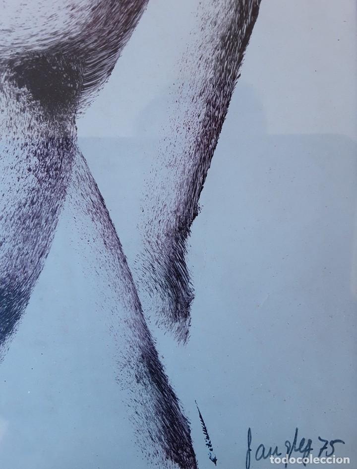 Arte: TÉCNICA MIXTA SOBRE PAPEL. FIRMADA ILEGIBLE - Foto 3 - 178571982