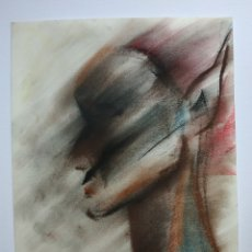Arte: DIBUJO ORIGINAL, RETRATO ABSTRACTO, FIRMADO. Lote 178598956