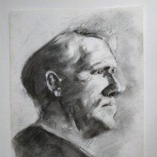 Arte: RETRATO AL CARBONCILLO SPENCER TRACY, ORIGINAL, FIRMADO. Lote 178601753