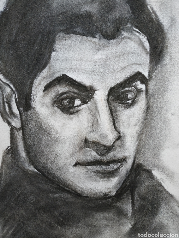 Arte: Dibujo original, retrato carboncillo, firmado - Foto 3 - 178602238