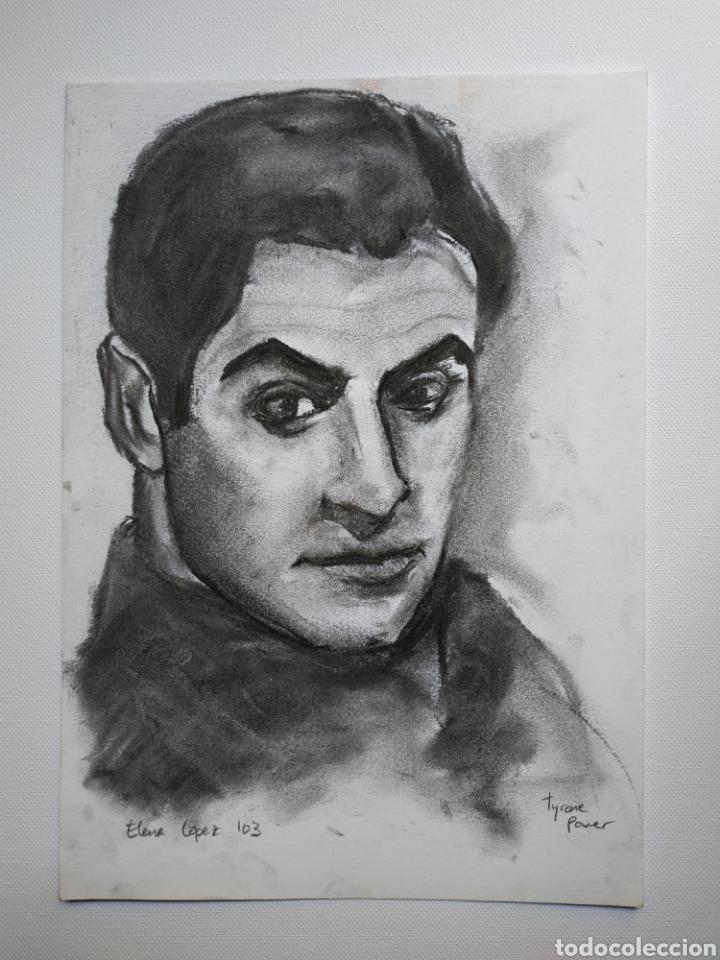 DIBUJO ORIGINAL, RETRATO CARBONCILLO, FIRMADO (Arte - Dibujos - Contemporáneos siglo XX)