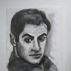 Arte: DIBUJO ORIGINAL, RETRATO CARBONCILLO, FIRMADO. Lote 178602238